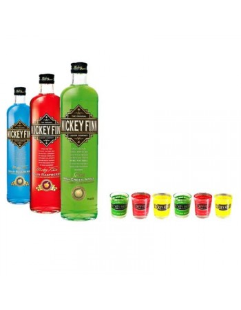 SELECTION MICKEY FINNS LIQUEURS IRLANDAISES 3*50CL + 12 SHOOTERS