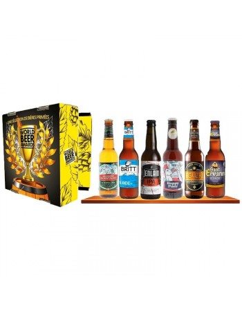 COFFRET WORLD BEER AWARDS X6 BIERES FRANCAISES PRIMEES
