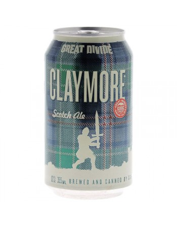 GREAT DIVIDE CLAYMORE SCOTCH ALE 35.5CL CAN