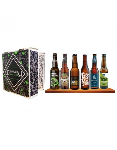 BOX DISCOVERY BEER BOOK 6 BIERES DE TYPE PALE ALE 6*0.33L