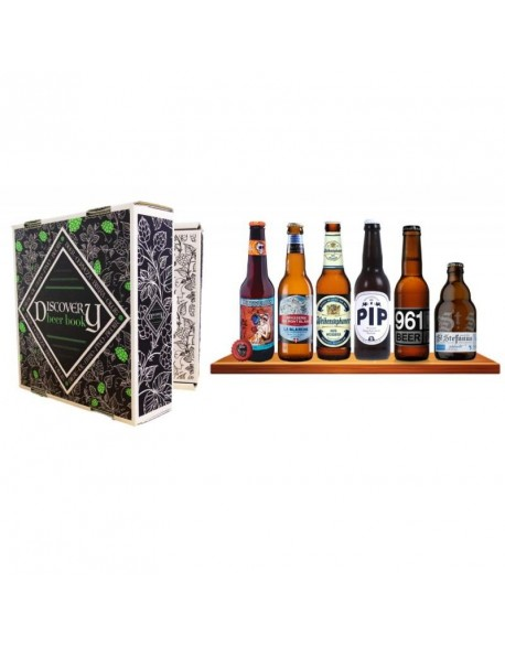 BOX DISCOVERY BEER BOOK 6 BIERE DE TYPE BLANCHE / HEFEWEISS 6*0.33L
