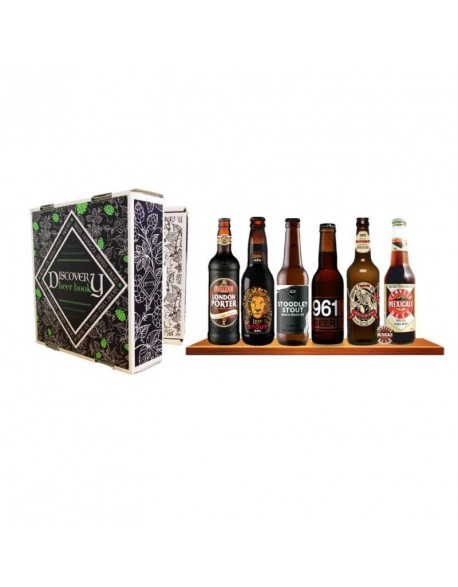 BOX DISCOVERY BEER BOOK 6 BIERE DE TYPE STOUT / PORTER 6*0.33L