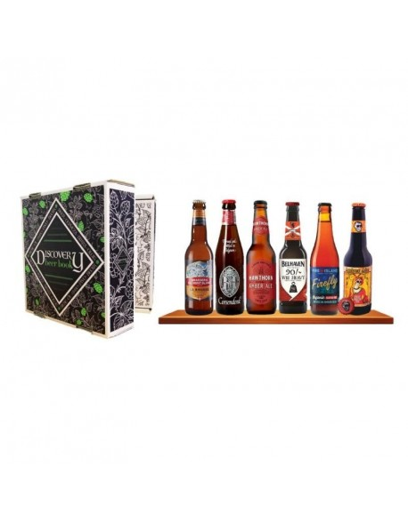 BOX DISCOVERY BEER BOOK 6 BIERES DE TYPE ROUSSE / AMBREE