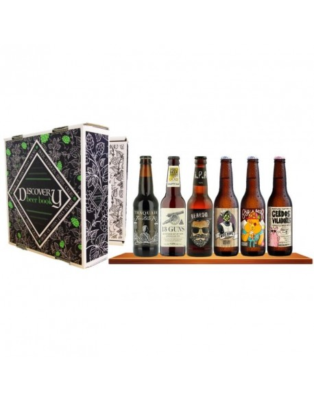 COFFRET DISCOVERY BEER BOOK X 6 BIERES CRAFTS